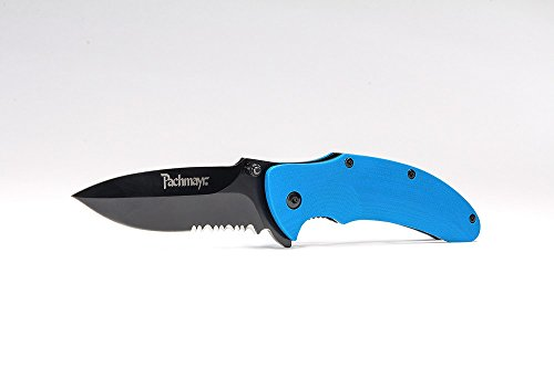 - Pachmayr G10 EDC Tactical Pocket Knife 3.5in Drop Pt. Serrated 420HC Steel Blade with Heavy Duty Pocket Clip