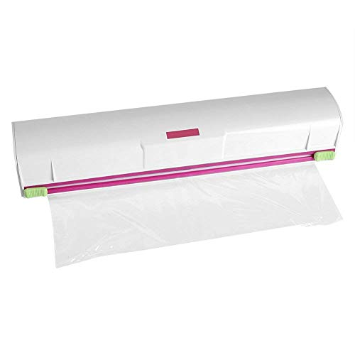 Plastic Wrap Cutter,Acogedor Food Wrap Dispenser,Stainless Steel Blade,Foil and Cling Film Cutter Plastic Storage Holder Kitchen -