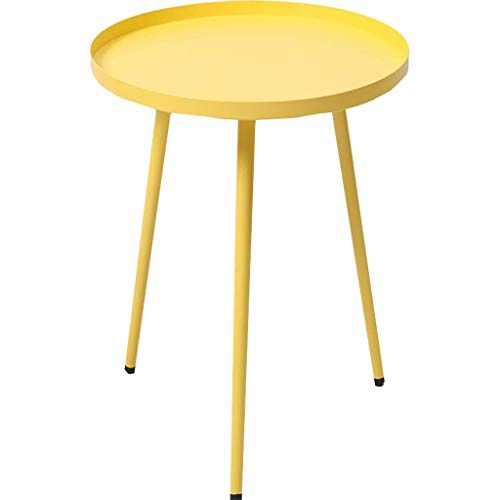 Tea Table Home Décor Products Snack Coffee Table End Tables Side Table Patio Coffee TablesEasy Assembly Compact Multipurpose Espresso Metal for Small Space Yellow