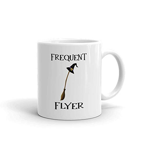 Frequent Flyer Halloween Funny Novelty Humor 11oz White