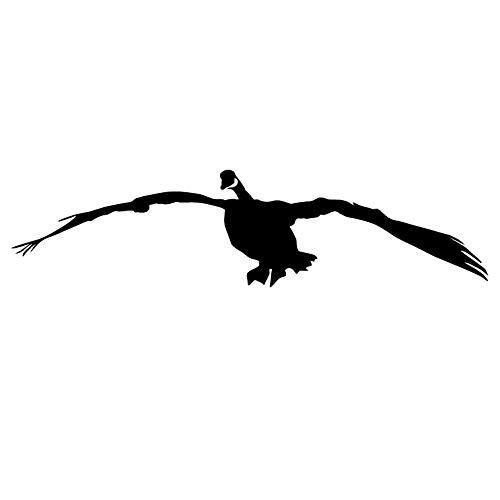 Goose Flying Decoy - Honker Goose Flying Goose Hunting Decal Sticker Goose Hunting decoys 2011 by Waterfowldecals (Small, Silver Metallic)
