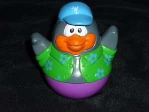 PLAYSKOOL Weebles Weeble Wobble Weebleville Figure Penguin in Green Vest 2.5