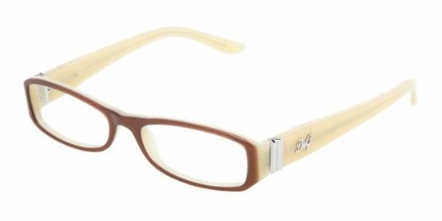 D&G 1153 776 BROWN ON BEIGE / DEMO LENS Designer Unisex Eyeglasses by Dolce & Gabbana