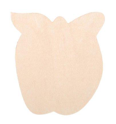 Darice 9133-78 Unfinished Wood Apple Shape Cutout, 3.5-Inch