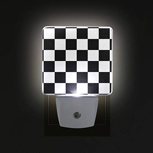 Checkered Flag Racing LED Night Lights with Auto