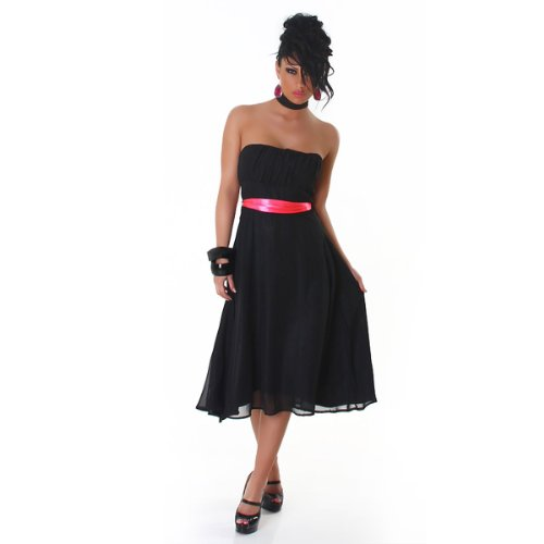 Young-Fashion - Vestido - Noche - para mujer Schwarz Pink