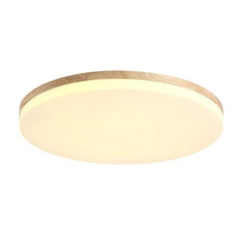 SJUN plafón Madera Salón Lámpara Redonda Plana Salón Proyección Madera Roble lámpara de Techo Dormitorio Vintage lámpara…