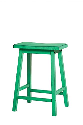 Acme Furniture Gaucho Counter Height Stool (Set of 2), Antique Green
