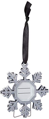 (Kate Aspen Christmas Photo Frame Ornaments Silver Snowflake Tree Hanging Picture Keepsake Set of 4)
