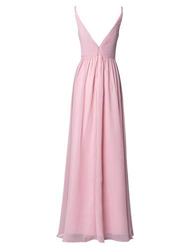 Rückenfrei A Violett Ausschnitt V Linie Abendkleider Kleider Damen Ballkleider Lang Chiffon Hochzeit Brautjungfernkleider TgwRdqxxB
