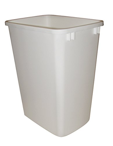 Rev-A-Shelf Replacement Waste Bin White-35 Quart