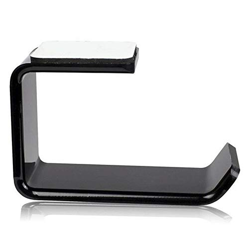 sahnah Simple Headphone Stand Hanger Hook Tape Under Desk Dual Headset Mount Holder
