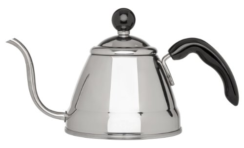 Fino Pour Over Coffee Kettle, 18/8 Stainless Steel, 6-Cup, 1L Capacity and Bonus HIC Coffee Measure Scoop, 1 tbsp. Capacity