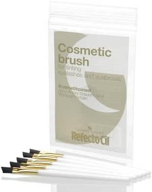 RefectoCil Cosmetic Brush for Tinting Eyelashes and Eyebrows (HARD) 5 PACK