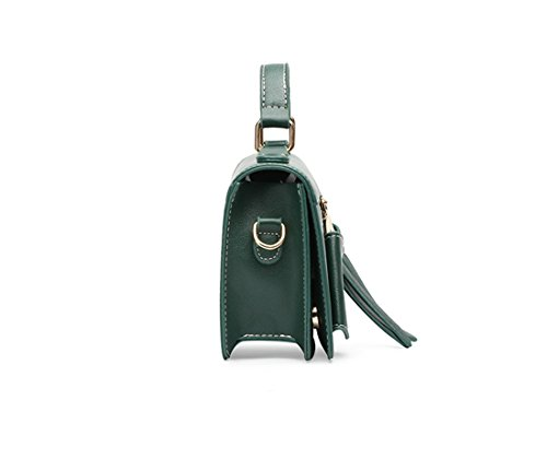 Sintético de de elegante MinottaUKD6026 mano Verde Mujer bolso Minotta RBwYq7H