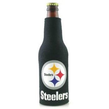 Pittsburg Steelers Zippered Bottle (Neoprene Zippered Bottle Suit Cooler)