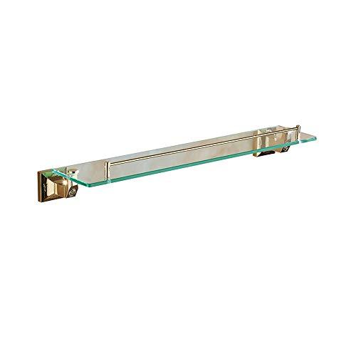 Environmental Phillips Toilet (Bathroom Glass Shelf, Beauty Makeup Rack, Chrome Single-Layer Hardware Hanging Rack, 2 Colors (Silver/Gray) Bathroom Shelf (Color : Gold))