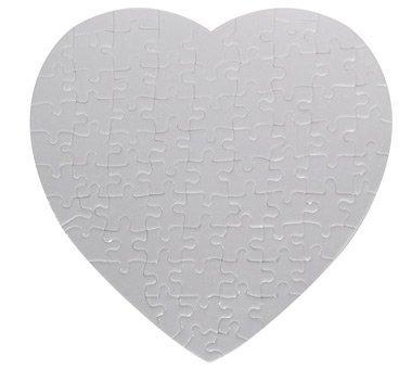 10 Sets Blank Sublimation Heart Jigsaw Puzzle DIY Heat Press Transfer Crafts