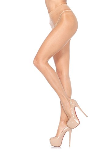 Leg Avenue Women's Sheer Waist Support Pantyhose, Honey Beige, One (Leg Avenue Sheer)
