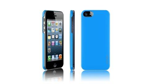 Araree HALF CASE Exklusive Design für iPhone 5 Bue Style mit guten Grip und leichtem Gewicht für Unterwegs, Extra noch dazu eine Displayschutzfolie und ein Mikrofasertuch, Schutzfolie für Karten vor e
