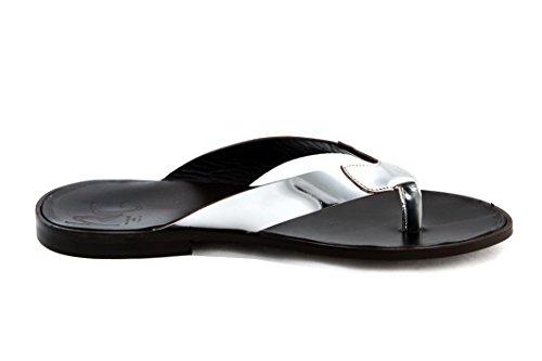 Roberto Guerrini Mens Tongs (string) Sandale 43 Argent