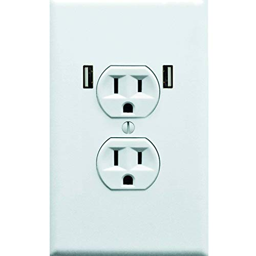 Sticker 10 (Fake Electrical Outlet & USB Wall Plate Sticker 10 Pack. Quirky Prank to Fool Starbucks Guests, Airport Travelers, & House Guests Wholl Think They Found An Open Plug To Charge Their Electronic Devices)