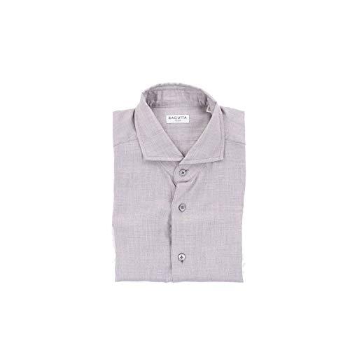 Bagutta Men's Siena08545grey Grey Cotton Shirt