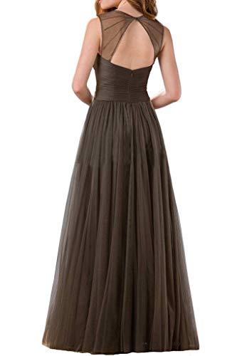 La mia Linie Abendkleider Braut A Prinzess Festlichkleider Rock Elegant Braun Abiballkleider Brautjungfernkleider ffdrpqnw