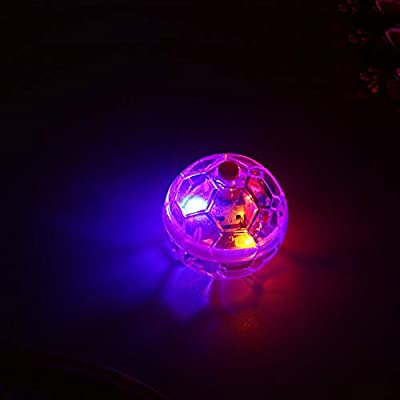 Gejoy 3 Pieces Cat Ball Toys Set with Flash Light and Bell Electric Interactive Cat Flashing Ball Cat Rolling Ball for Outdoor Funny Cat Kitten Moving Toys