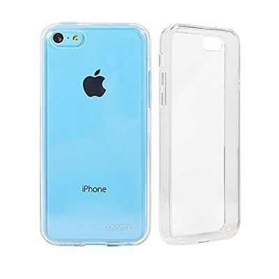 Luvvit Clearview Slim Back Case with Bumper Cover for iPhone 5C
