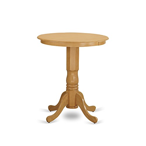 East West Furniture EDT-OAK-TP Eden Round Counter Height Table, Oak Finish (Height Top Glass Counter Table Round)