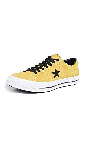 Converse Men's Dark Star Vintage Suede Oxford Sneakers, Bold Citron/Black, 10.5 M US