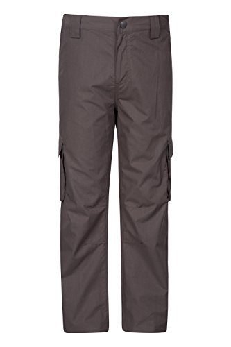 Mountain Warehouse Winter Trek Youth Trousers – Fast Dry Kids Pants Brown 7-8 Years