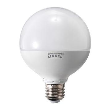 Ikea Ledare Led Lampe E27 Dimmbar Rund Opalweiß 1000 Lumen