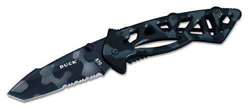 (Buck 870X Bones TM Camo, Frame Lock Folding Knife)