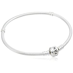 Pandora Jewelry Iconic Moments Snake Chain Charm Sterling Silver Bracelet, 7.9″