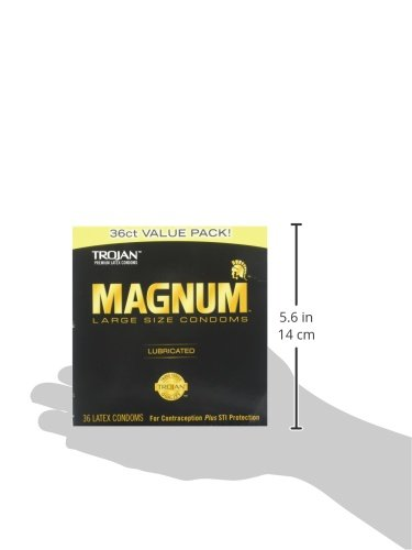 TROJAN Magnum Lubricated Latex Large Size Condoms, 36 ea by Trojan (Image #3)