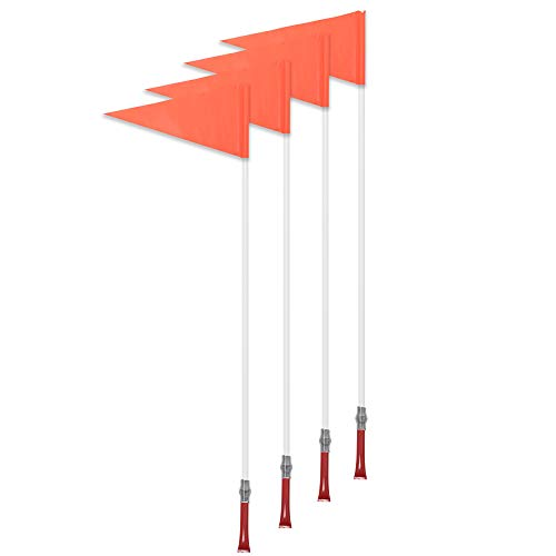 Champion Sports Soccer Corner Flag Set with Plastic Poles