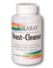 Solaray Yeast-Cleanse VCapsules, 90 Count