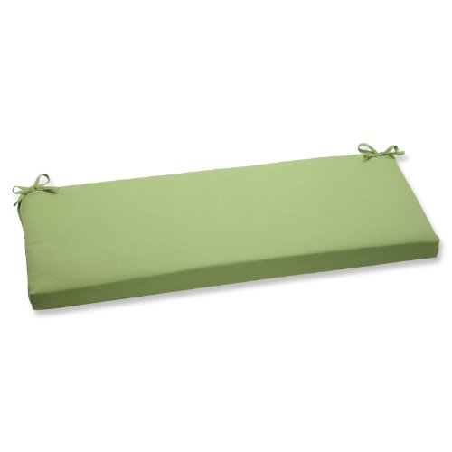 Pillow Perfect Bench Cushion with Green Sunbrella Fabric (Sunbrella Bench Cushion)