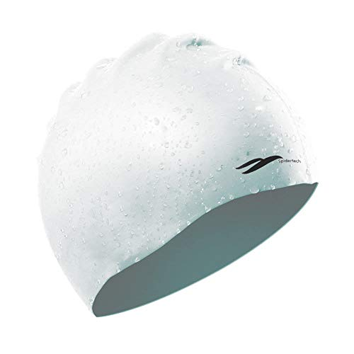 UPSTONE Silicone Swim Cap White Lightweight Flexible and Soft Friendly Material Suitable for Swimming Diving Bathing Suitable for Unisex Teenager Adults Cling Head in Water