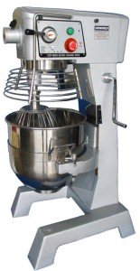 Uniworld UPM-30E 30 Quart Mixer With Guard And 3 Attachments