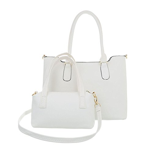 Ital Bolso al Sintético mujer hombro de Blanco Design para rrqwAP6
