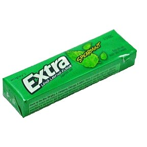 Wrigleys Extra Spearmint Sugar Free Gum 6 stick (box of 20)