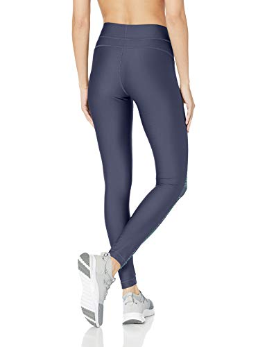 Under Armour Women's HeatGear Armour Printed Legging, Utility Blue (496)/Metallic Silver, X-Small