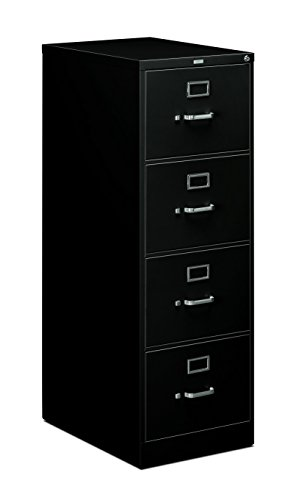HON 4-Drawer Legal File - Full-Suspension Filing Cabinet with Lock, 52 by 25-Inch Black (H514)