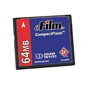 UPC 750323900050, Delkin 64MB Compact Flash CF Card Digital Memory Card