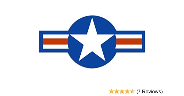 US AIR FORCE USAF AIRPLANE ROUNDEL INSIGNIA LOGO Vinyl Decal Sticker