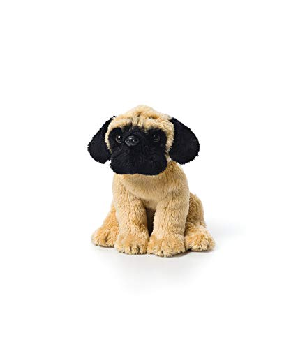 DEMDACO Light Brown Pug Dog Children's Plush Beanbag Stuffed Animal Toy ()