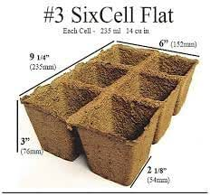Biodegradable Transplantable Seed Starting CowPot 3 Inches Square Strip DGSCPST3A (Brown) 6 Eco-Friendly Strips
